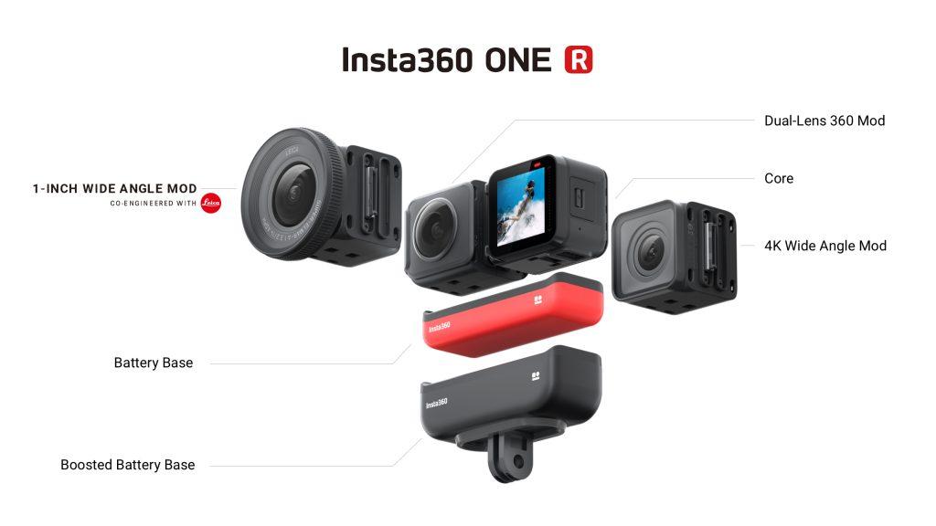 Insta360 ONE R cho phép chuyển đổi giữa các mô-đun ống kính