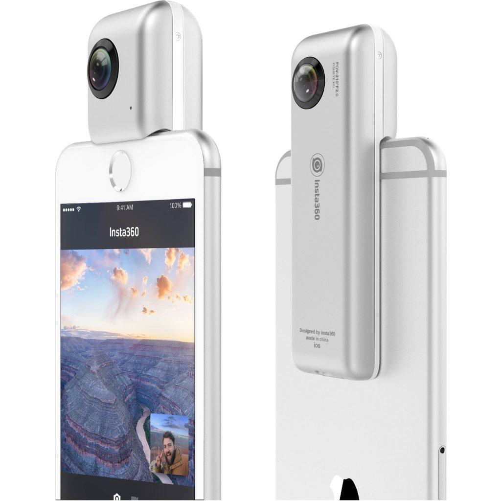 Insta360 Nano với ống kính mắt cá 210 độ kép