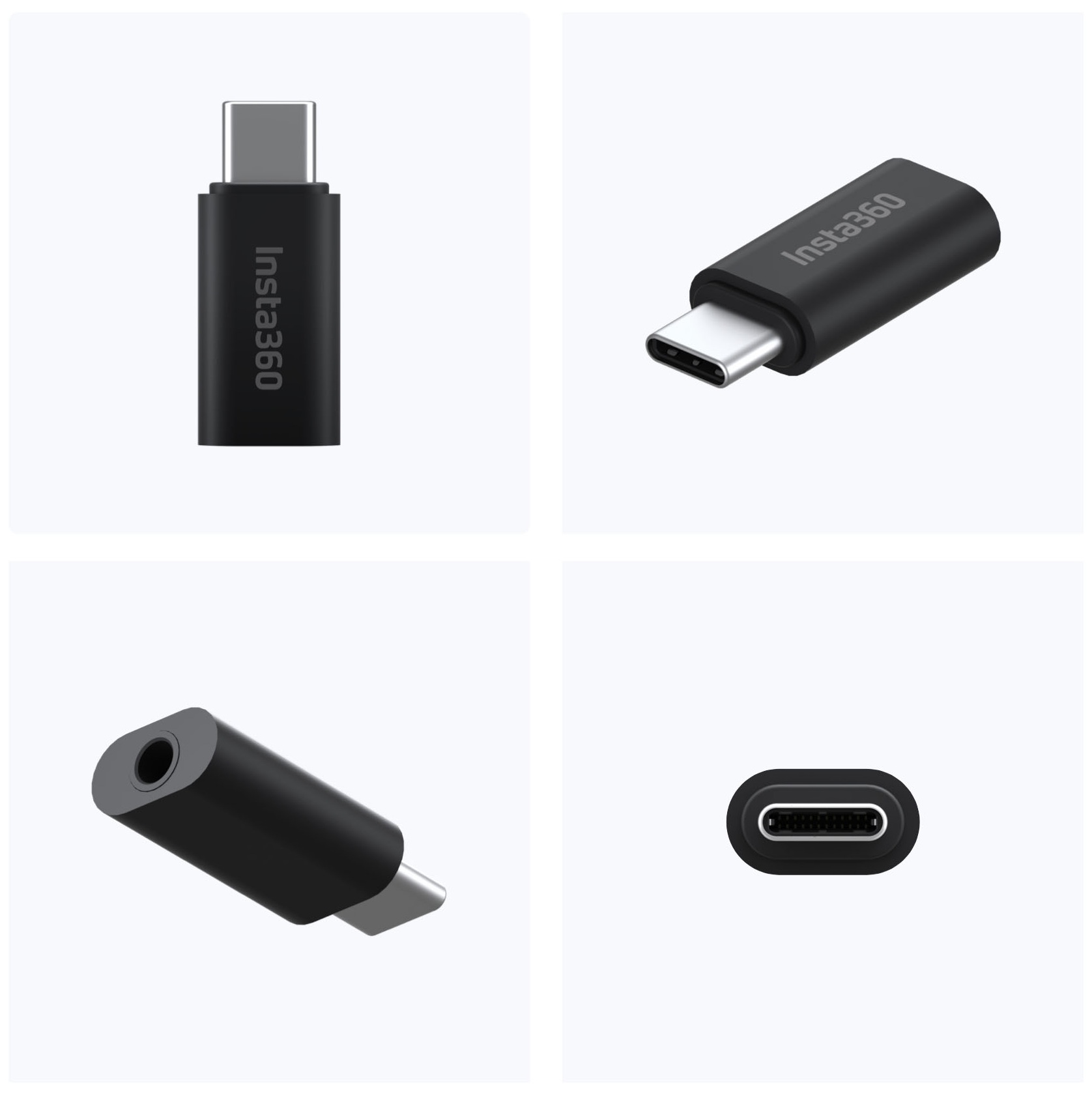 Insta360 ONE R Mic Adapter với một đầu USB-C và một đầu micro 3.5mm