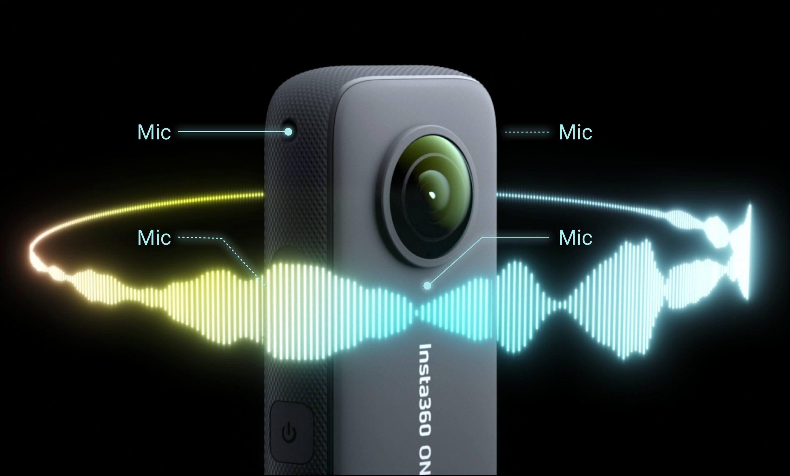camera Insta360 ONE X2 được tích hợp micro 360 độ