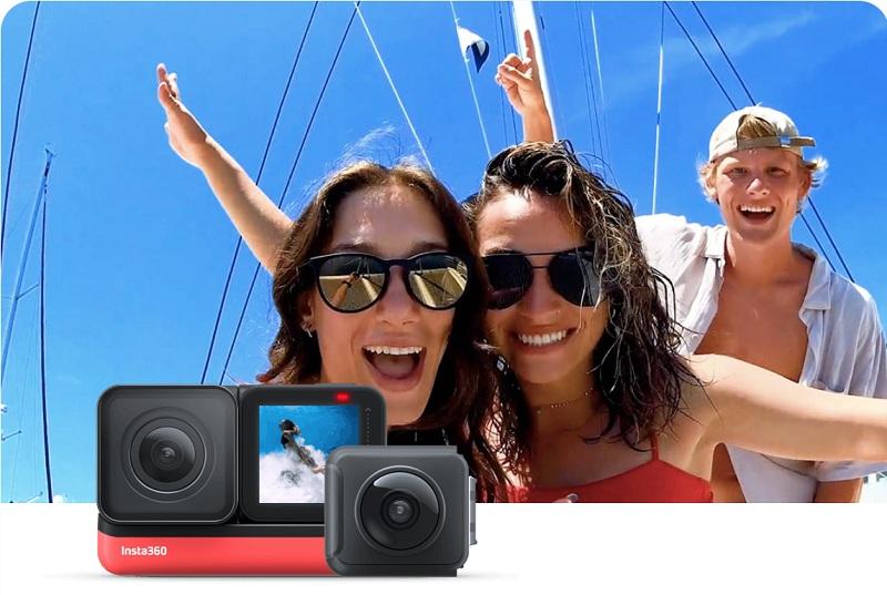 Insa360 ONE R có thể gắn lên drone để ghi hình độc đáo